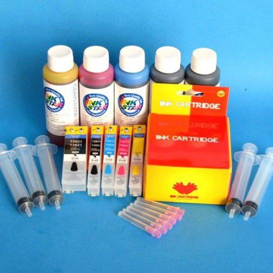 Cartuchos Rellenables para Epson XP-800 Autoreseteables Kit con Tintas