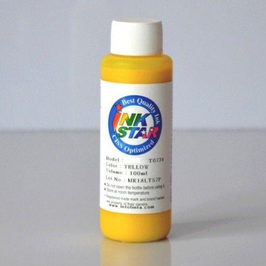 Recarga Tinta para Epson XP-4105 Cartucho Amarillo Botella de 100ml Dye
