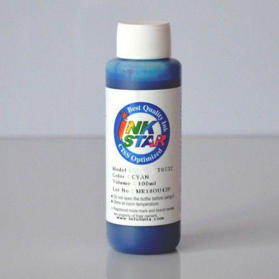 Recarga Tinta para Epson XP-4105 Cartucho Cyan Botella de 100ml Dye