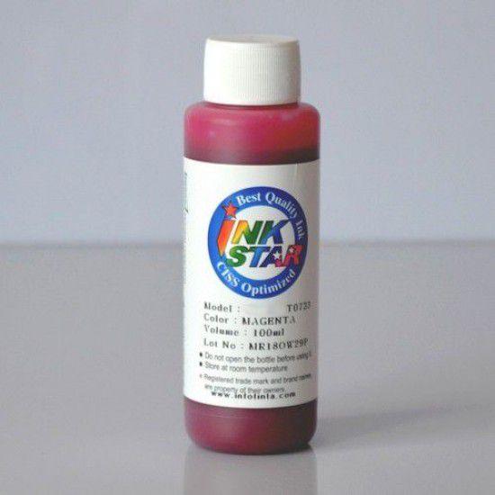 Recarga Tinta para Epson WF-4720DWF Cartucho Magenta Botella de 100ml Pigmentada