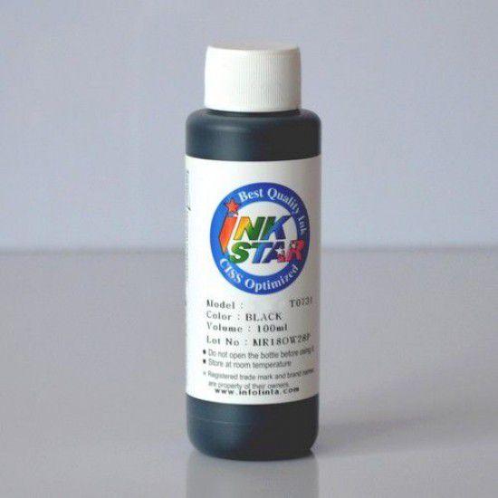 Recarga Tinta para Epson WF-4720DWF Cartucho Negro Botella de 100ml Pigmentada