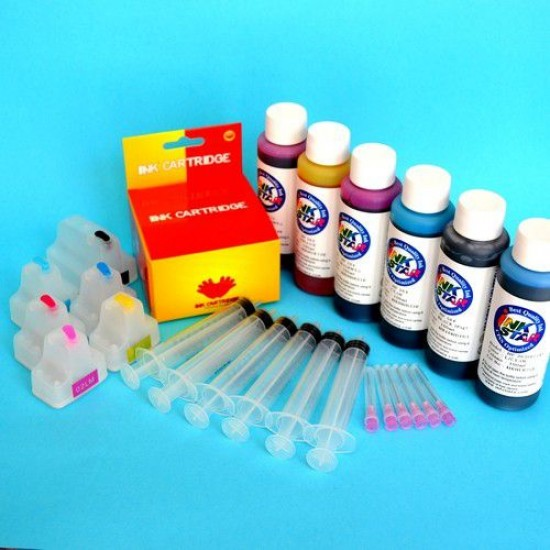 Cartuchos Recargables Kit con tinta para Hp Photosmart C6175