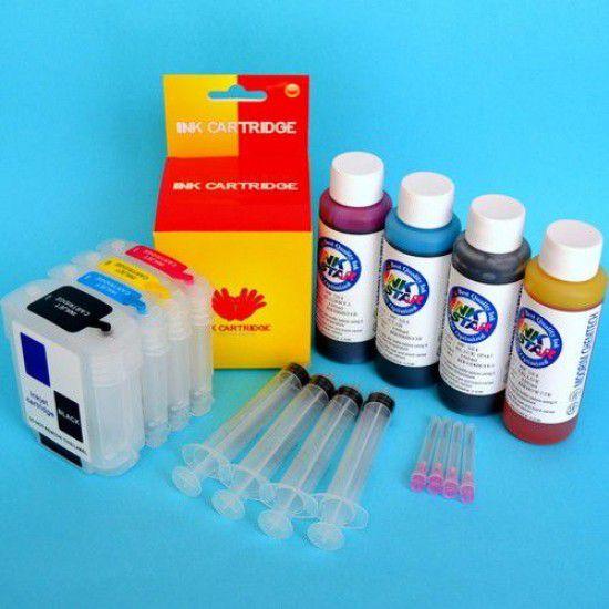 Hp OfficeJet 9120 Cartuchos Recargables Kit con Tintas