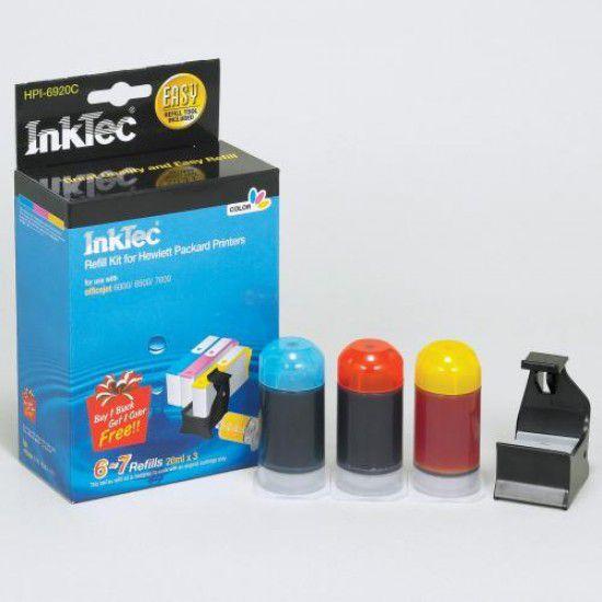 Kit Recarga Tinta para Hp Officejet 6500 Color