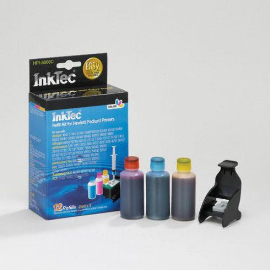 Kit Recarga Tinta Para Hp Psc 2353 Color
