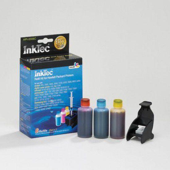 Kit Recarga Tinta Para Hp Psc 2550 Color