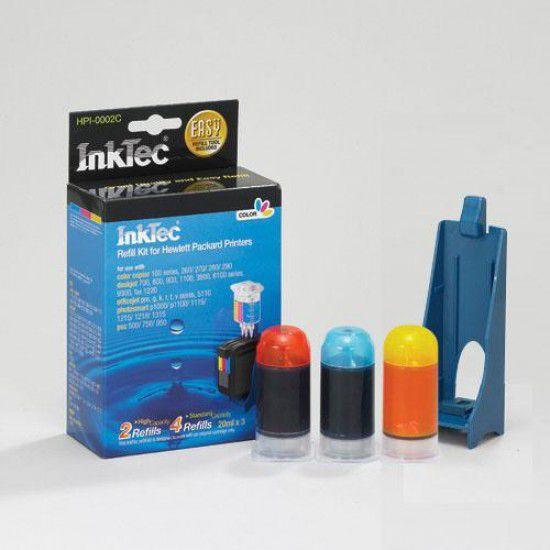 Kit Recarga Tinta Para Hp Psc 500 Color