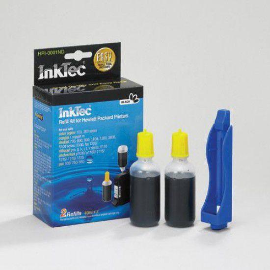 Kit Recarga Tinta Para Hp Psc 750 Negro