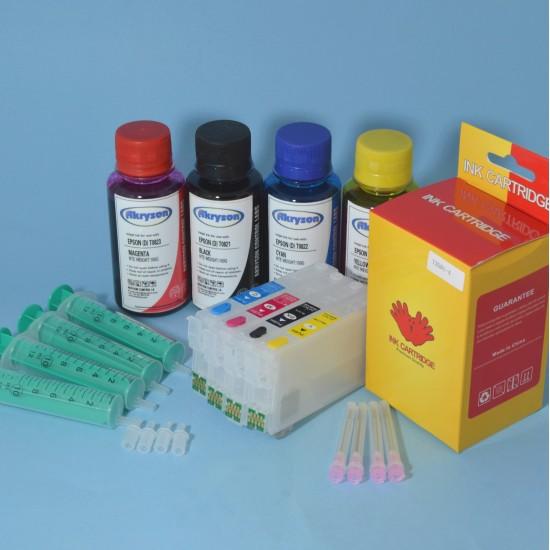 Cartuchos Rellenables para Epson WF-4730DWF Autoreseteables Kit con Tintas