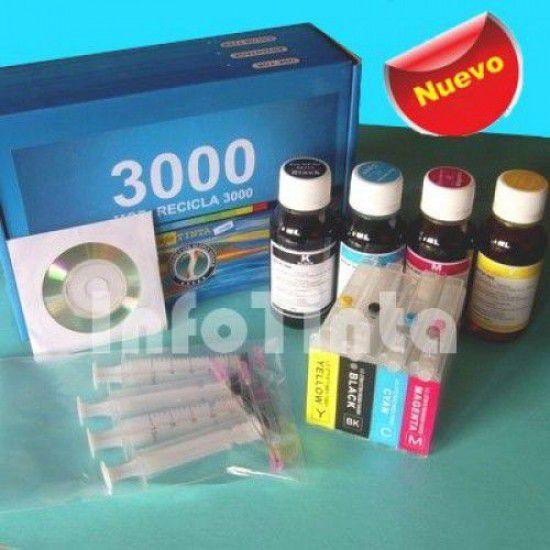 Kit de Recarga de Cartuchos para Impresora Brother LC1000BK-LC1000Y