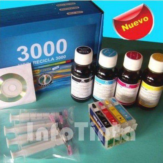Kit de Reciclado de Cartuchos para Epson D78 D92 DX4000 DX4050 DX4400 DX4450